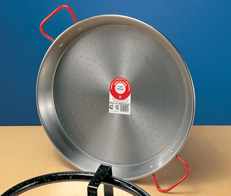 Traditional Polished Steel Paella Pans from Spain