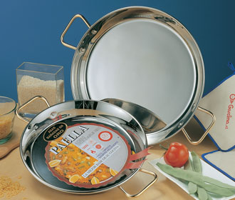 Stainless Steel Paella Pans from Spain