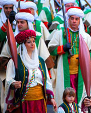 The festive Morros y Cristianos festival of Alcoy