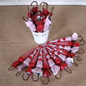 Sombrilla Rich Chocolate Red & Pink Parasol Umbrellas CL018