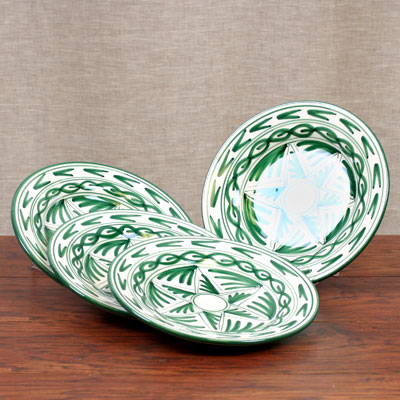 Hand Painted single plate - Set of 4 SALE RL035