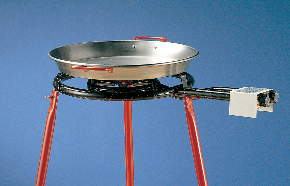 Burner with rolling stand and 42cm Paella Pan