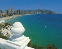 The bustling city of Benidorm