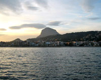 View from the bay of Javea