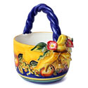 Hand Made Triana Sevilla Style Ceramic Basket - ALC-CA-TRI