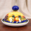 Rustic Blue-Fruit Style 'Quesera' Cheese Keeper - ALC-QUE-FRA