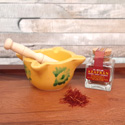 La Mancha Saffron Jar with Mortar and Pestle AZ012