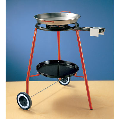 Burner With Rolling Stand And 42cm Paella Pan Spanish