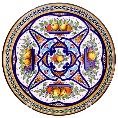 Decorative Hand Painted Plate CER-AITANA3-27