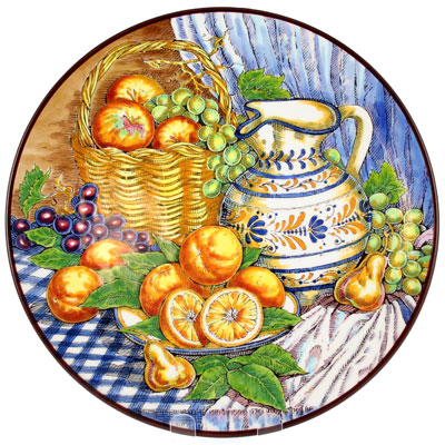 Decorative Hand Painted Plate CER-BODEGONB3-40