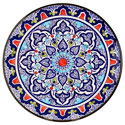 Decorative Hand Painted Plate CER-DAMASCO3-27