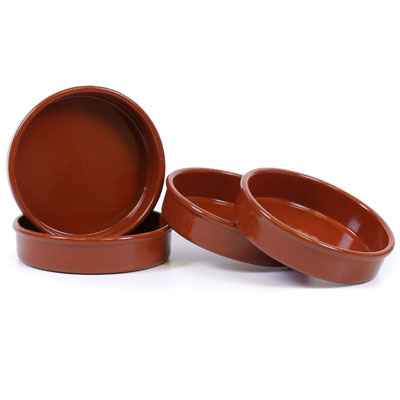 Set of 4 Rustic Cazuela Clay Pan - 2.5 inch/ 6 cm - CP083-s4