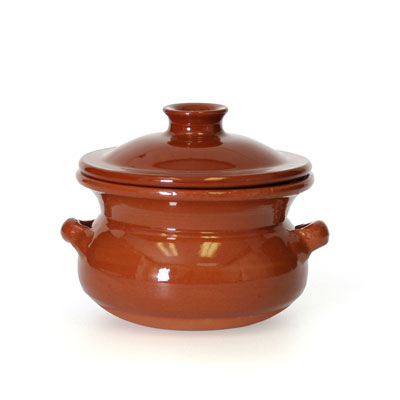 Rustic Clay Pot with Lid - 0.5 Liter - CP048