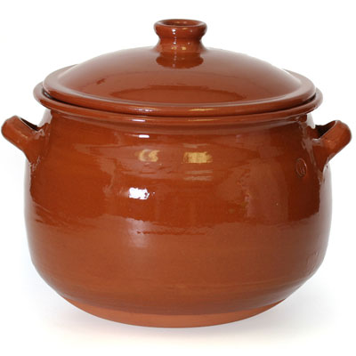 Rustic Clay Pot With Lid 3 5 Liter Cp049 Spanish