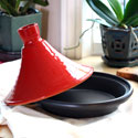 Red and Black Terra-Cotta Tagine - CP087