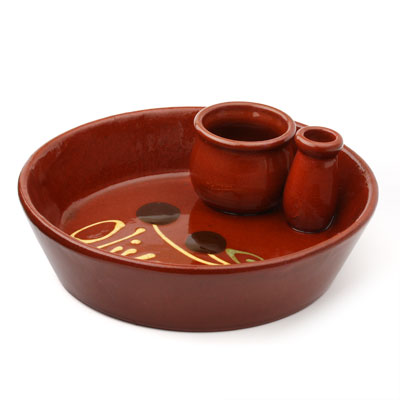 Clay Olive Serving Dish CP100