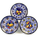 Decorative Hand Painted Plates - Set of 3 - CER-ACAPULCOC-18S3