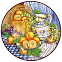 Decorative Hand Painted Plate - CER-BODEGONB3-31