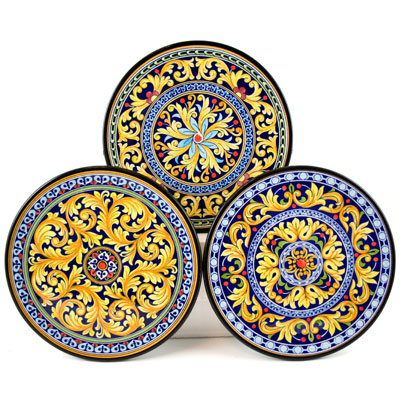 Decorative Hand Painted Plates - Set of 3 - CER-MILAN-18S3  sc 1 st  HotPaella.com & Decorative Hand Painted Plates - Set of 3 - Spanish Food and Paella ...