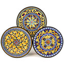 Decorative Hand Painted Plates - Set of 3 - CER-MILAN-18S3