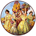 Decorative Hand Painted Plate - CER-SOROLLA2-31