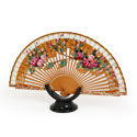 Abanico Hand Made Wood Fan - FN-GUZ-127-Brown
