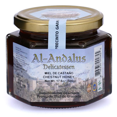 Certified Origin Chestnut Blossom Honey from Granada