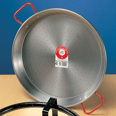 Traditional Polished Steel Paella Pan - 17 inch/ 42 cm - PS042