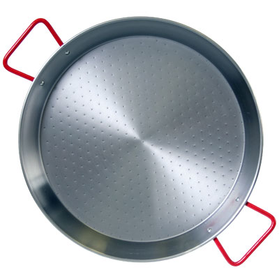 Traditional Polished Steel Paella Pan - 9 inch/ 22 cm - PS022