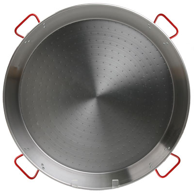 Traditional Polished Steel Paella Pan - 45 inch/ 115 cm