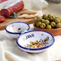 Hand Painted Olive Serving Dish - Blue - TAL-OLIVA-AZ