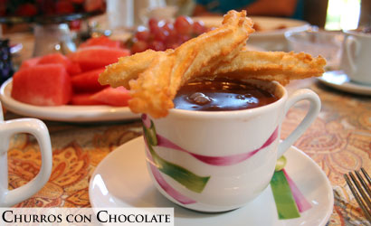 Churros con chocolate - Curros with Chocolate
